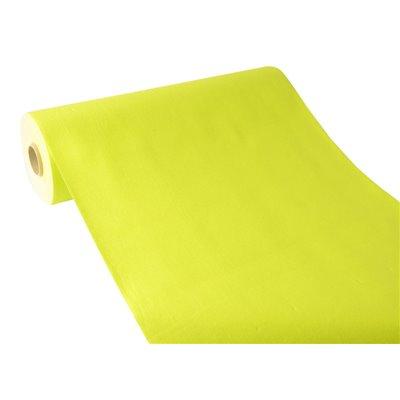 """Tafelloper Limoengroen """"Textielkarakter"""" Van Pulp Viscose En Tissue Mix """"ROYAL Collection"""" 24m x 400mm -horecavoordeel.com-"""