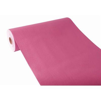 "Tafelloper Fuchsia ""Textielkarakter"" Van Pulp Viscose En Tissue Mix ""ROYAL Collection"" 24m x 400mm -horecavoordeel.com-"