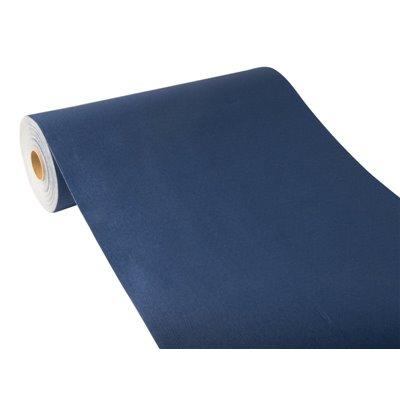 "Tafelloper Donkerblauw ""Textielkarakter"" Van Pulp Viscose En Tissue Mix ""ROYAL Collection"" 24m x 400mm -horecavoordeel.com-"