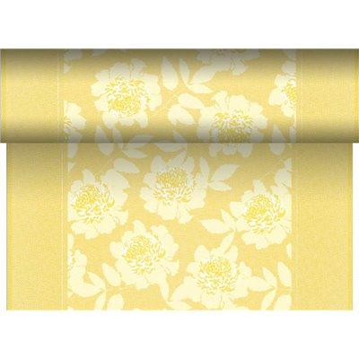 """Tafelloper Geel """"Adele"""" """"Textielkarakter"""" Van Pulp Viscose En Tissue Mix """"ROYAL Collection"""" 24m x 400mm -horecavoordeel.com-"""