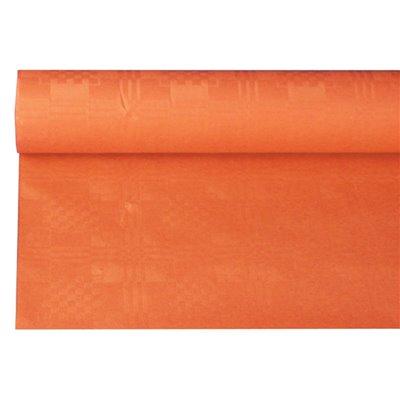 Tafelkleed Papier Rol Nectarine Met Damastprint 6 x 1,2 meter -horecavoordeel.com-