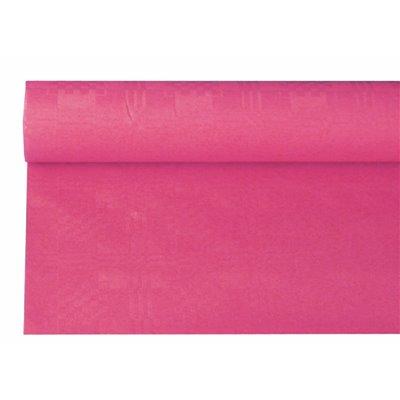 Tafelkleed Papier Rol Fuchsia Met Damastprint 6 x 1,2 meter -horecavoordeel.com-