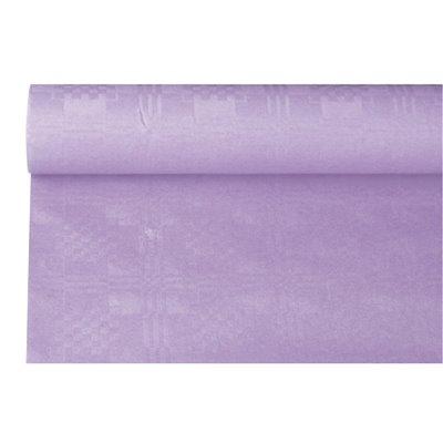 Tafelkleed Papier Rol Paars Met Damastprint 6 x 1,2 meter -horecavoordeel.com-
