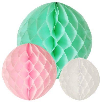 """Decoratie Ballen """"Pastel"""" Kleuren Assortiment Verschillende Maten -horecavoordeel.com-"""