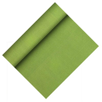 """Tafelloper Olijfgroen Non Woven """"Textielkarakter"""" """"Soft selectie Plus"""" 24m x 400mm -horecavoordeel.com-"""