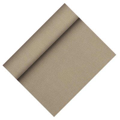 """Tafelloper Grijs Non Woven """"Textielkarakter"""" """"Soft selectie Plus"""" 24m x 400mm -horecavoordeel.com-"""