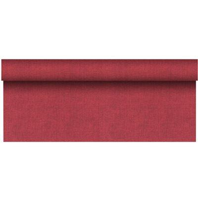 """Tafelkleed Rol Bordeaux Van Pulp Viscose En Tissue Mix """"ROYAL Collection Plus"""" 20 x 1,18 meter -horecavoordeel.com-"""