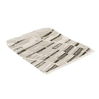 "Hamburgerzakjes ""Newsprint"" Pergament Papier Vetvrij 160 x 180mm -horecavoordeel.com-"