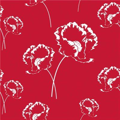 """Servetten 3-Laags Rood """"Poppy"""" 1/4 vouw 330 x 330mm -horecavoordeel.com-"""