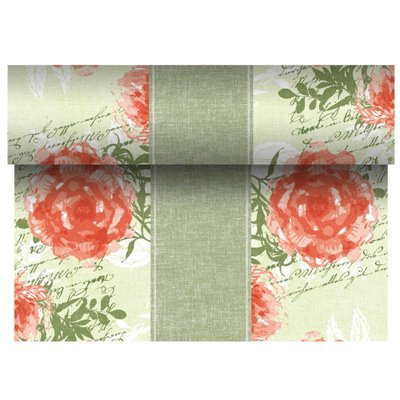 "Tafelloper Nectarine ""Provencal"" ""Textielkarakter"" Van Pulp Viscose En Tissue Mix ""ROYAL Collection"" 24m x 400mm -horecavoordeel"