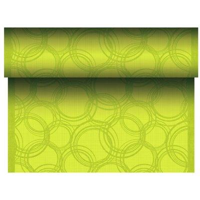 """Tafelloper Lime """"Bubbles"""" """"Textielkarakter"""" Van Pulp Viscose En Tissue Mix """"ROYAL Collection"""" 24m x 400mm -horecavoordeel.com-"""