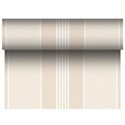 "Tafelloper Champagne ""Elegance"" ""Textielkarakter"" Van Pulp Viscose En Tissue Mix ""ROYAL Collection"" 24m x 400mm -horecavoordeel."