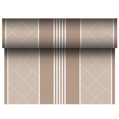 "Tafelloper Bruin ""Elegance"" ""Textielkarakter"" Van Pulp Viscose En Tissue Mix ""ROYAL Collection"" 24m x 400mm -horecavoordeel.com-"