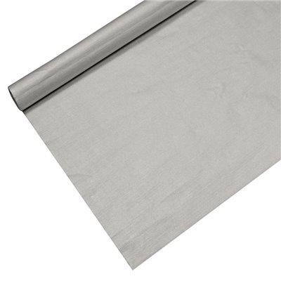 Tafelkleed Papier Zilver Met Beschermingslaag 6 x 1,2 meter -horecavoordeel.com-