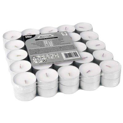 Theelichten Wit 100% Stearine Ø 37 x 22mm -horecavoordeel.com-