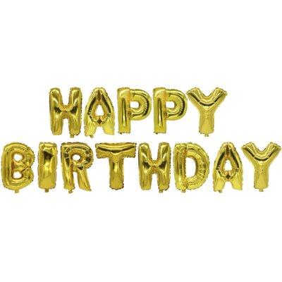 "Folie Ballon Set ""Happy Birthday"" Goud -horecavoordeel.com-"