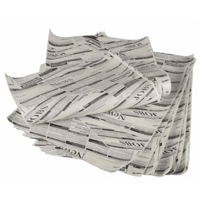 "Inpakpapier ""Newsprint"" Pergament Papier Vetvrij 350 x 250mm -horecavoordeel.com-"