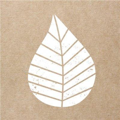 """Servetten 3-Laags """"Naturel"""" """"Graphic Leaves"""" 1/4 vouw 250 x 250mm -horecavoordeel.com-"""