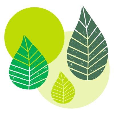 """Servetten 3-Laags Groen """"Graphic Leaves"""" 1/4 vouw 400 x 400mm -horecavoordeel.com-"""