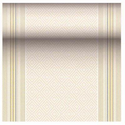 "Tafelloper Geel ""Chirala"" ""Textielkarakter"" Van Pulp Viscose En Tissue Mix ""ROYAL Collection"" 24m x 400mm -horecavoordeel.com-"