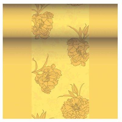 "Tafelloper Geel ""Thalia"" ""Textielkarakter"" Van Pulp Viscose En Tissue Mix ""ROYAL Collection"" 24m x 400mm -horecavoordeel.com-"