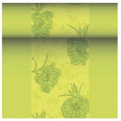 "Tafelloper Groen ""Thalia"" ""Textielkarakter"" Van Pulp Viscose En Tissue Mix ""ROYAL Collection"" 24m x 400mm -horecavoordeel.com-"