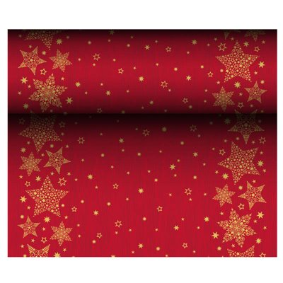 "Tafelloper Airlaid ""Christmas Shine"" 24m x 400mm -horecavoordeel.com-"