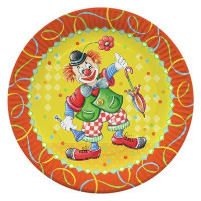 "Borden Karton Rond ""Clown"" Ø 230mm -horecavoordeel.com-"