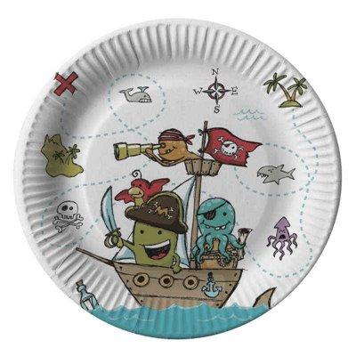 """Borden Karton Rond """"Pirate Crew"""" Ø 230mm -horecavoordeel.com-"""