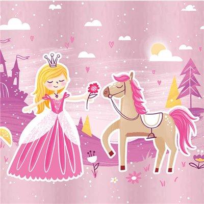 """Servetten """"Fairytale Princess"""" 3-Laags 1/4 vouw 330 x 330mm -horecavoordeel.com-"""