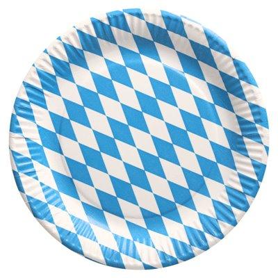 """Borden Karton Rond """"Beiers blauw"""" Ø 230mm -horecavoordeel.com-"""