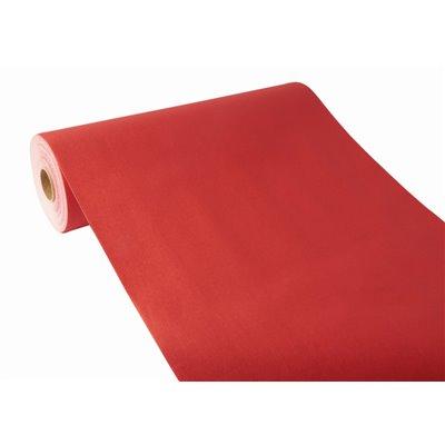 "Tafelloper Rood ""Textielkarakter"" Van Pulp Viscose En Tissue Mix ""ROYAL Collection"" 24m x 400mm"