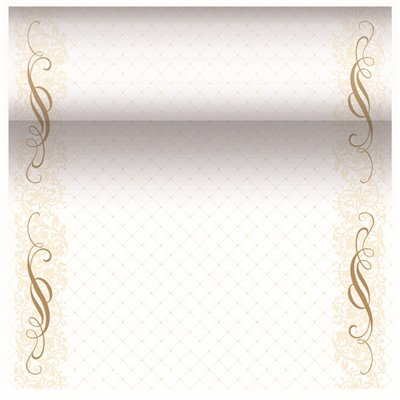 "Tafelloper Goud ""Megan"" ""Textielkarakter"" Van Pulp Viscose En Tissue Mix ""ROYAL Collection"" 24m x 400mm"