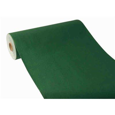"Tafelloper Donkergroen ""Textielkarakter"" Van Pulp Viscose En Tissue Mix ""ROYAL Collection"" 24m x 400mm"