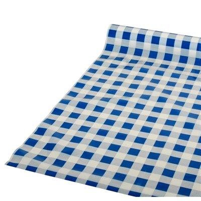 """Tafelkleed Plastic Blauw """"Karo"""" 50m x 800mm"""