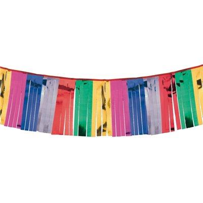 Slinger Folie Met Gekleurde Franjes 4 meter