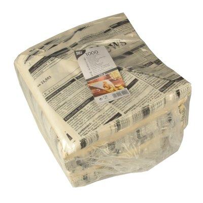"""Puntzakken """"Newsprint"""" Pergament Papier Vetvrij 325 x 230 x 230mm (Vul-inhoud 250 Gram)"""