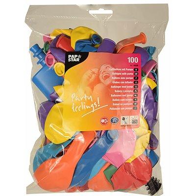 Ballonnen Kleuren Assortiment Met Pomp Ø 220mm