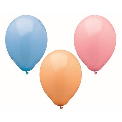 """Ballonnen """"Pastel"""" Kleuren Assoriment (Geschikt voor Helium) Ø 250mm"""