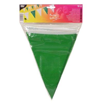Wimpel Slinger Folie Groen Wit Waterbestendig 10 meter