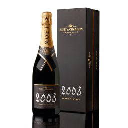 Moët & Chandon Grand Vintage 2008 Chalk 75cl (Gift Packaging)