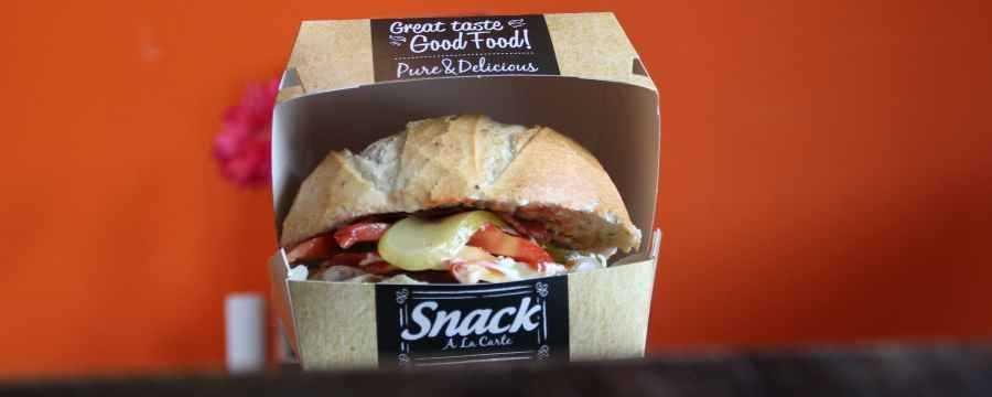 Biodegradable Hamburger trays -Horecavoordeel-
