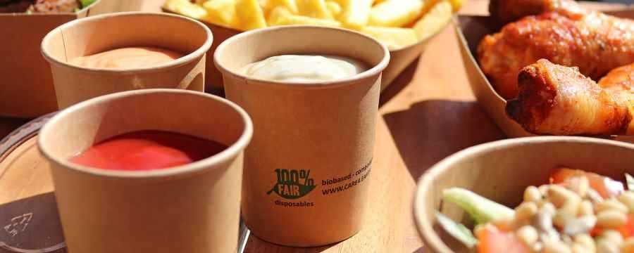Biodegradable Sauce cups -Horecavoordeel