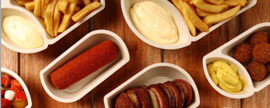 Duurzame Snackbakjes van Suikerriet -Horecavoordeel.com-
